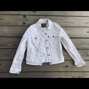 Levi's White Wash Denim Jacket Sz Small